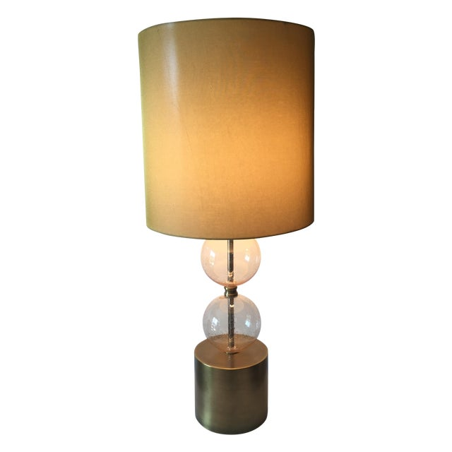 Arteriors Gold Seeded Glass Lamp Chairish