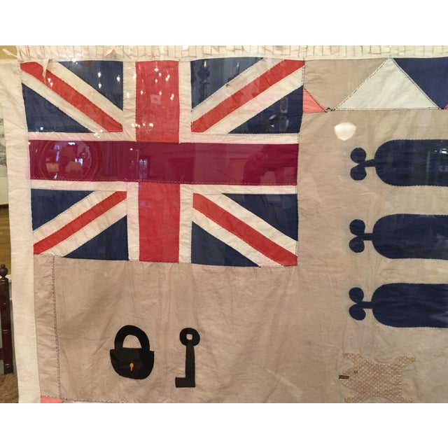 Antique British Colony Flag in Lucite Frame - Image 5 of 7