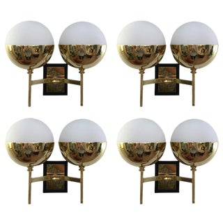 Two Pairs of Diminutive Stilnovo Style Sconces, Italy, 1960s