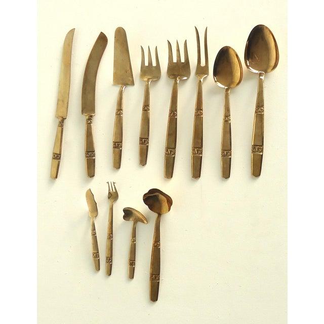 Thai bronze flatware 70 pieces chairish - Thailand silverware ...