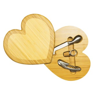 Wooden Heart Cheese Board