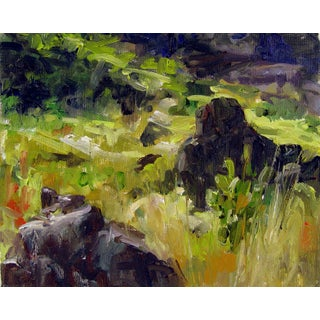 B. Woosley Plein Air Landscape Study Painting