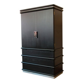 Jay Spectre for Century Cerused Oak & Chrome Armoire