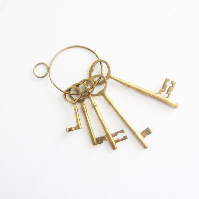 Image of Vintage Brass Keys - Set of 5
