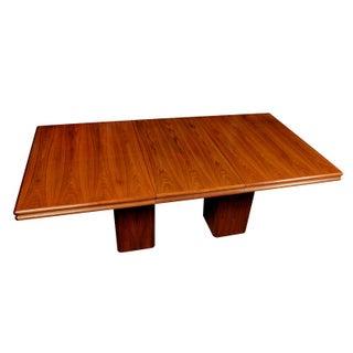 Vintage Rosewood Pedestal Base Dining Table