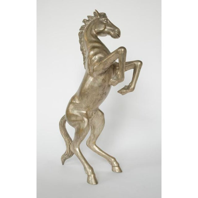 Image of 1900's French metal sculpture of the horse