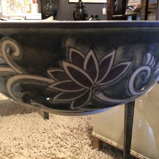 Floral Ceramic Bowl - Image 4 of 5