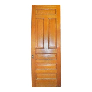 Single Oak Pocket Door With Wheels