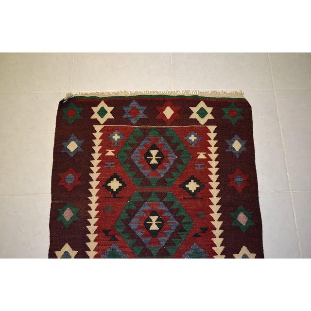 Hand-Woven Turkish Flatweave Rug - 2′7″ × 3′7″ - Image 6 of 9