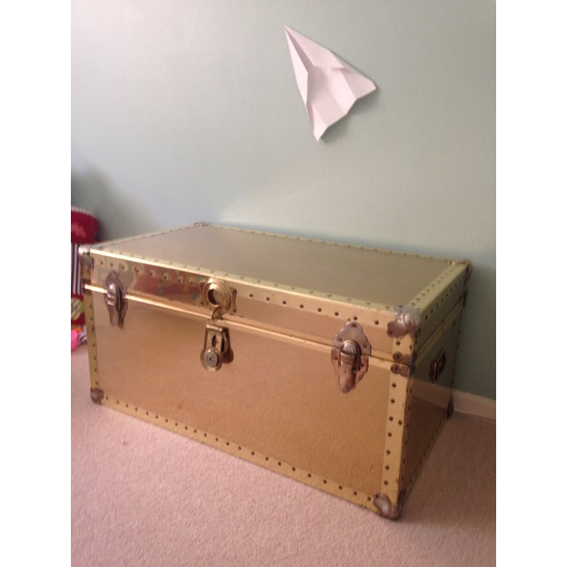 Image of Brass Storage Trunk with Metal Hardware