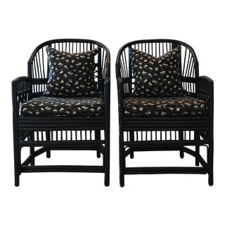 Chinese Chippendale Bamboo Chairs - A Pair