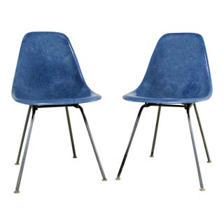 Vintage Herman Miller Eames Molded Fiberglass DSX Chairs - A Pair
