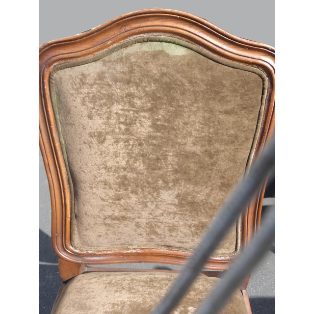 French Henredon Mohair Dining Chairs - Set of 6 - Image 10 of 11