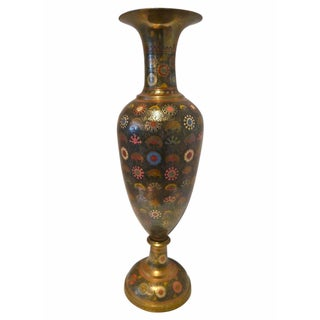 Monumental Moroccan Style Brass Vase