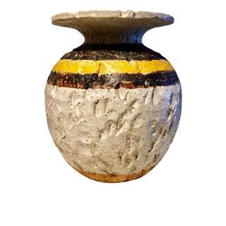 Circa 1960s Mid-Century Stoneware Vase
