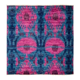 """Contemporary Ikat Hand-Knotted Rug - 6'1"""" X 6'4"""""""