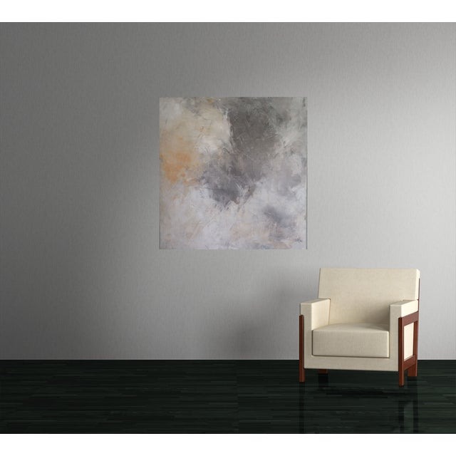 """""""Grey Sky"""" Abstract Painting by Kris Gould - Image 4 of 5"""