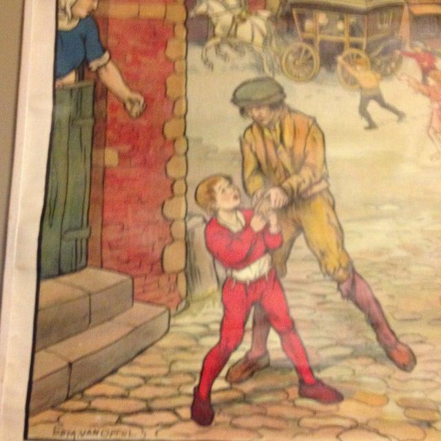 Vintage Belgian History School Chart Art - Image 7 of 10