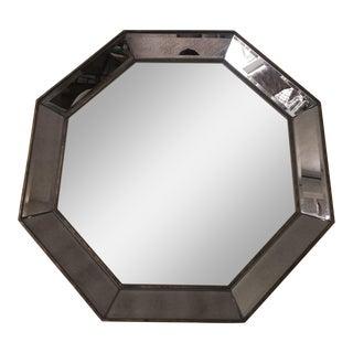 Antique Brass Octagonal Wall Mirror