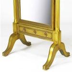 Image of Gilt Wood Neoclassical Full Length Cheval Floor Mirror