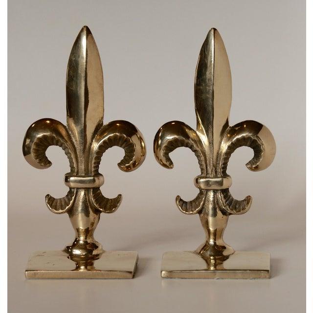 Vintage brass fleur de lis bookends a pair chairish Fleur de lis bookends