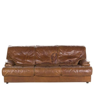 Leather Sofa in the Style of Saporiti