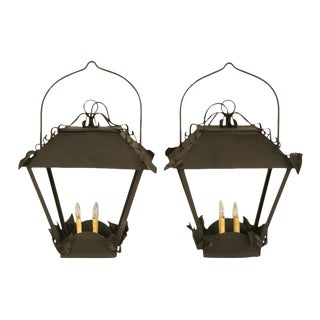 Circa 1950s French Lanterns - A Pair