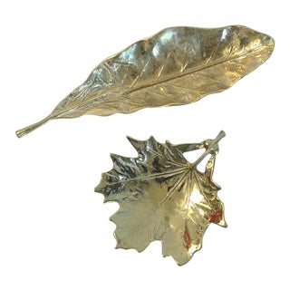 Brass Leaf Figures - A Pair