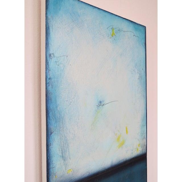 Blue Velvet Sunrise, I & II. Mixed Media Oil on Panel - Pair - Image 6 of 11