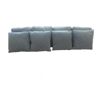 Light Blue Decorative Pillows - Set of 8