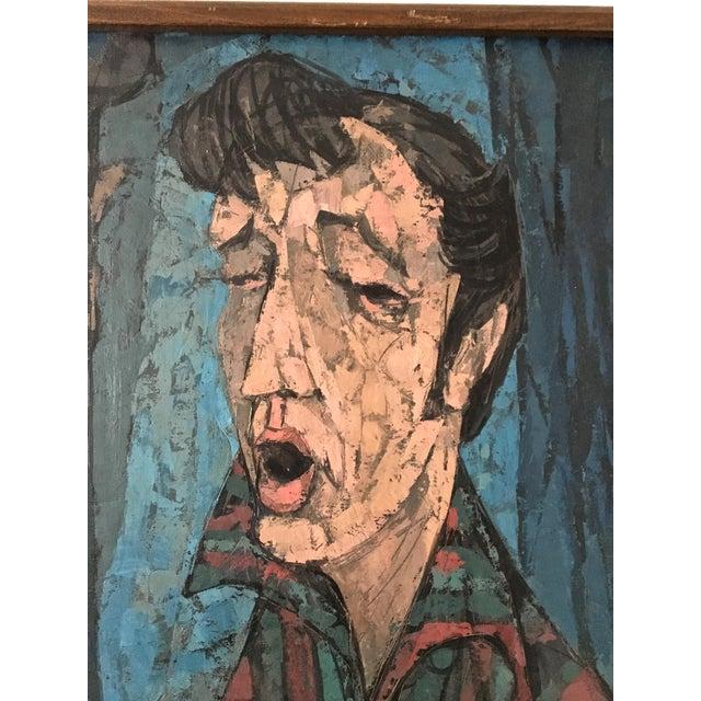 "Richard Campbell Mid-Century ""Minstrel"" Original Painting - Image 3 of 6"