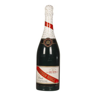 "A grand scale replica bottle of ""Cordon Rouge"" champagne from France c.1940."