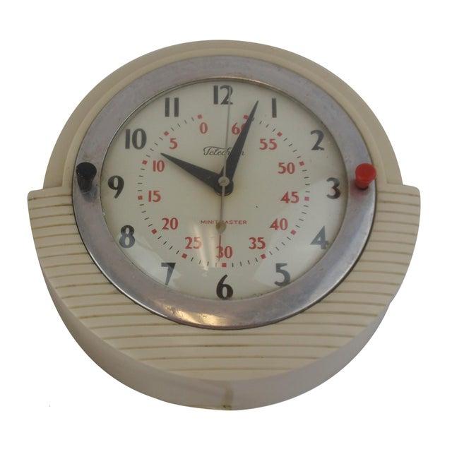 Telechron Minitmaster Kitchen Wall Clock With Timer Chairish
