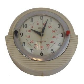 Telechron Minitmaster Kitchen Wall Clock With Timer