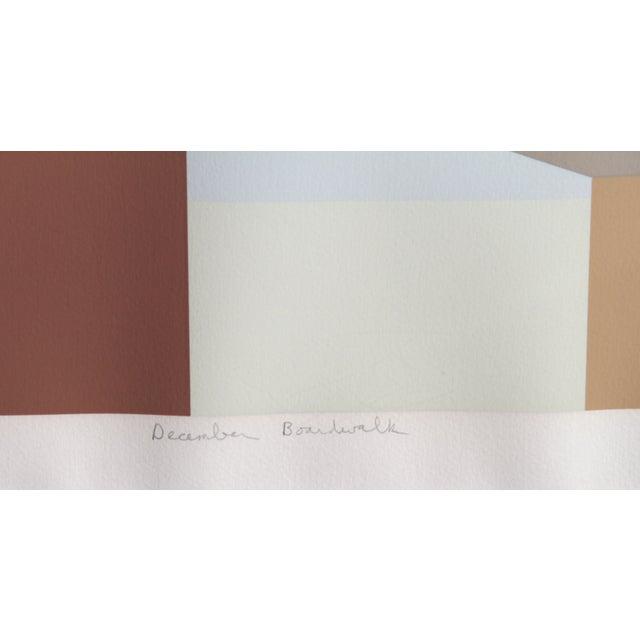 Framed Serigraph December Boardwalk by Saul Chase - Image 2 of 3