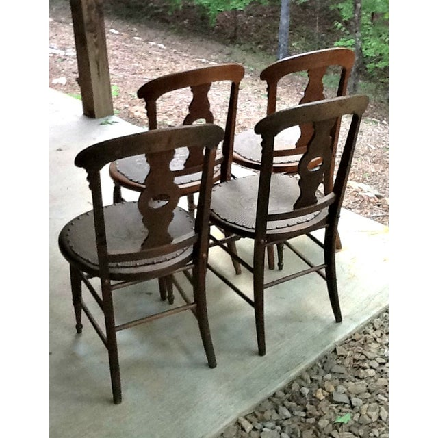 Antique Dining Chairs - Set of 4 - Image 4 of 5