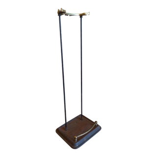 Vintage Cast Iron and Brass Umbrella Stand