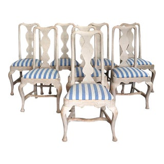 Set of Eight Splat Back Style Dining Chairs (#42-79)
