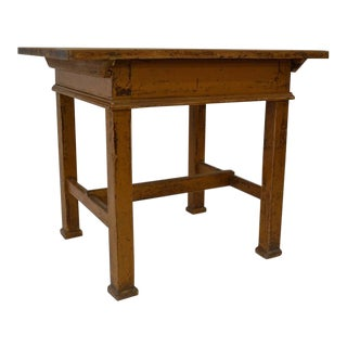Painted Pine Sliding Top Work Table