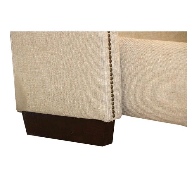 Restoration Hardware Warner Fabric King Bed - Image 8 of 10