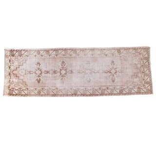 "Distressed Oushak Runner - 3'1"" X 9'1"""