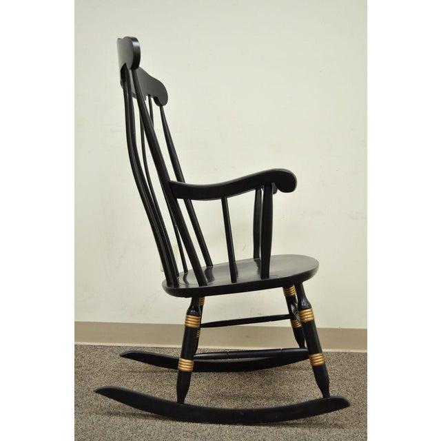 Vintage Sigill College University Nichols & Stone Windsor Rocking Chair - Image 6 of 11