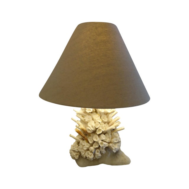 Gorgeous Authentic Coral Table Lamp - Image 1 of 6