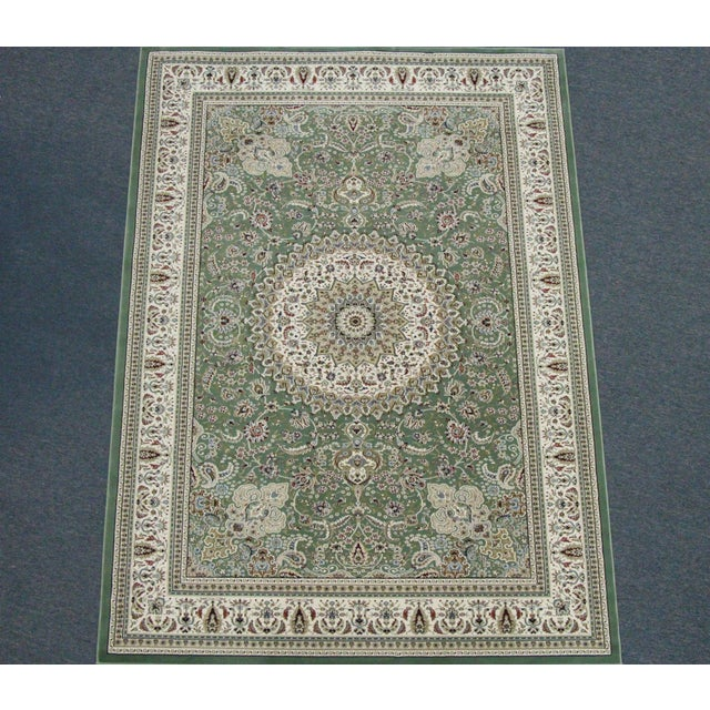 Traditional Medallion Green Rug - 5′3″ × 7′4″ - Image 2 of 8