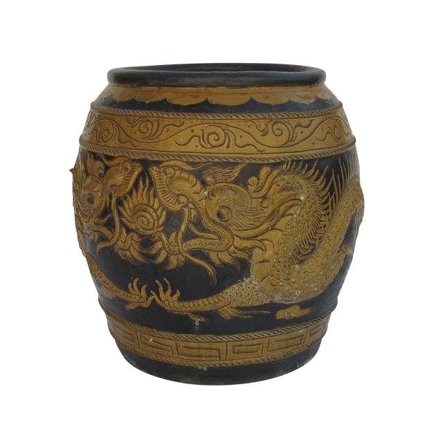 Image of 1960s Asian Dragon Pot/Planter