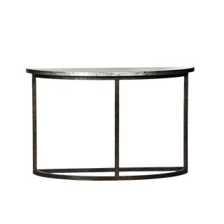 Modern Metal Half Table