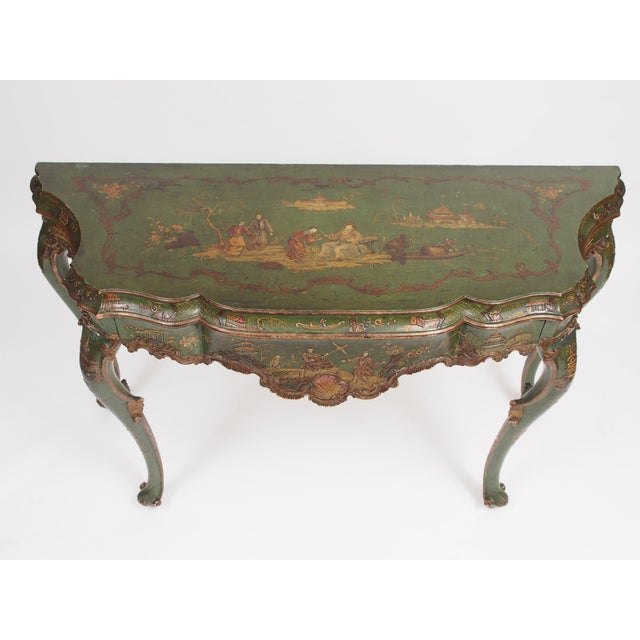 Image of Chinoiserie Decorated Console Table with a Drawer