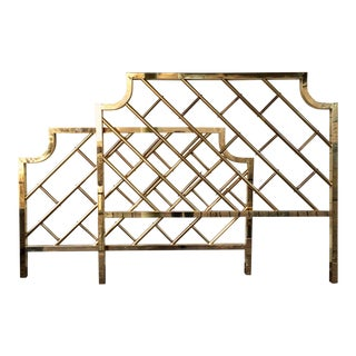 Chinese Chippendale Style Brass Queen Bedframe