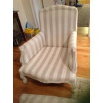 Image of Vintage French Armchair With Matching Footstool