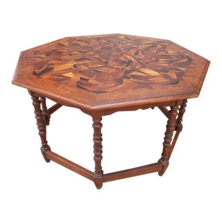Large Parquetry Octagonal Centre Table Circa. 1930's
